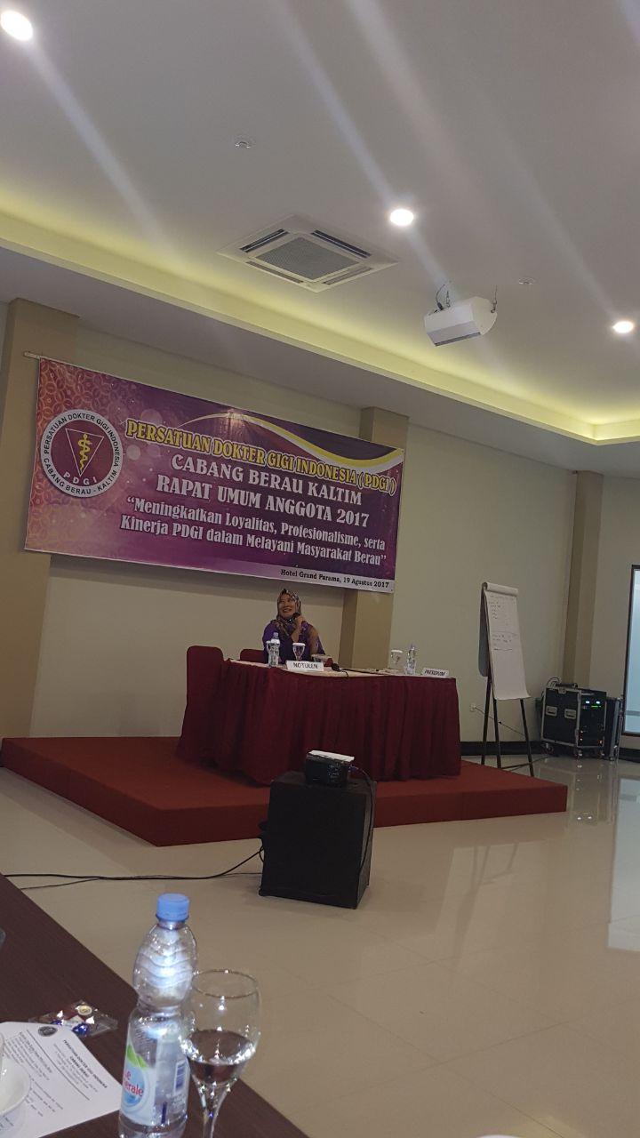 Sah! Rosita Rahayu Pimpin PDGI Cabang Berau