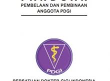 Buku Panduan Pembelaan dan Pembinaan Anggota PDGI